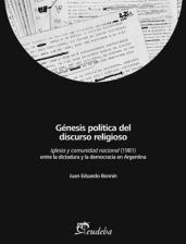 Libro Genesis Politica Del Discurso Religioso : Iglesia Y Comunidad Nacional