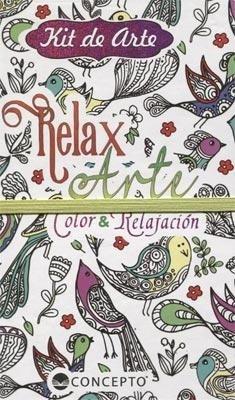 Libro Kit De Arte Relax Arte - Color Y Relajacion