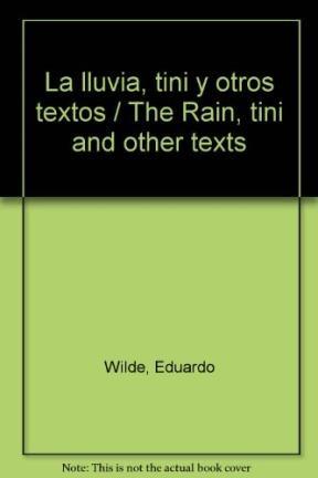 Libro La Lluvia  Tini Y Otros Textos