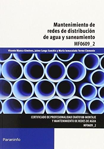 Libro Mantenimiento De Redes De Distribucion De Agua Y Saneamiento