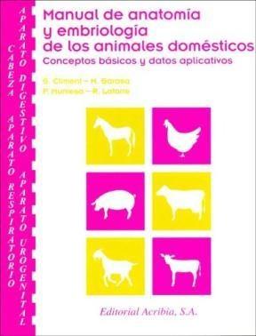 Libro Manual De Anatomia Y Embriologia De Los Animales Domesticos
