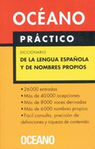 Libro Oceano Practico Diccionario De La Lengua Española Y De Nombres Propios