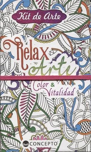 Libro Kit De Arte Relax Arte - Color Y Vitalidad