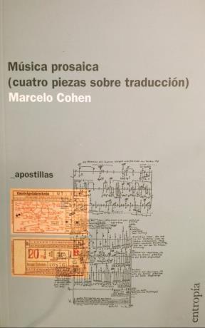 Libro Musica Prosaica (Cuatro Piezas Sobre Traduccion)