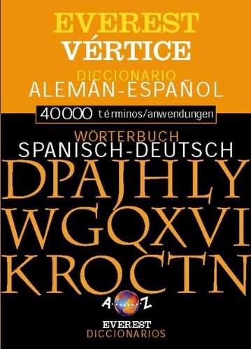 Libro Diccionario Bilingue  Vertice-Everest Aleman Espaol