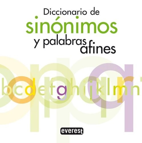 Libro Diccionario De Sinonimos Y Palabras Afines