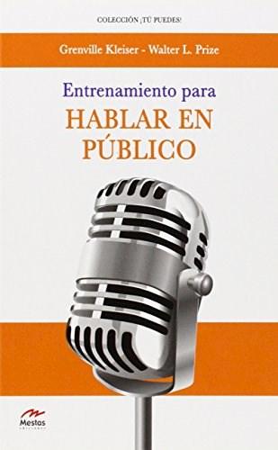 Libro Entrenamiento Para Hablar En Publico