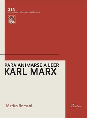 Libro Para Animarse A Leer Karl Marx